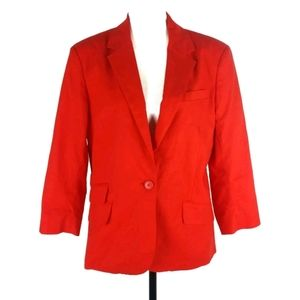 NWT NY & Co red linen 3/4 sleeve blazer